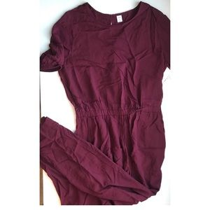 Brand New w/ Tags : Old Navy Maroon Jumpsuit